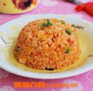 果蔬百科番茄鸡蛋炒饭